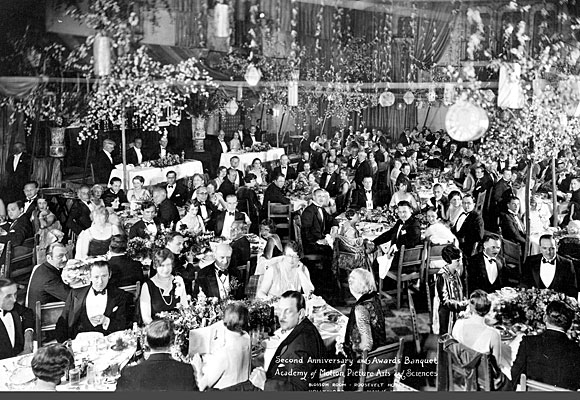 The first Academy Awards at the Hollywood Roosevelt's Blossom Room