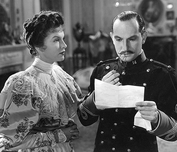 "Gale Sondergaard and Joseph Schildkraut star in ""The Life of Emile Zola"""