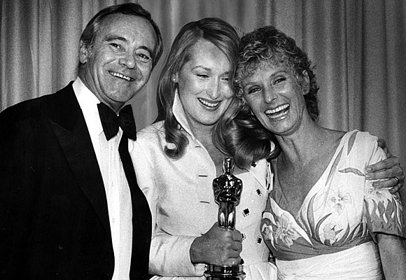 Jack Lemmon, Meryl Streep and presenter Cloris Leachman