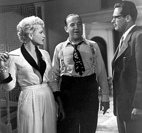 "Judy Holliday starred with Broderick Crawford, center, and William Holden in ""Born Yesterday."""