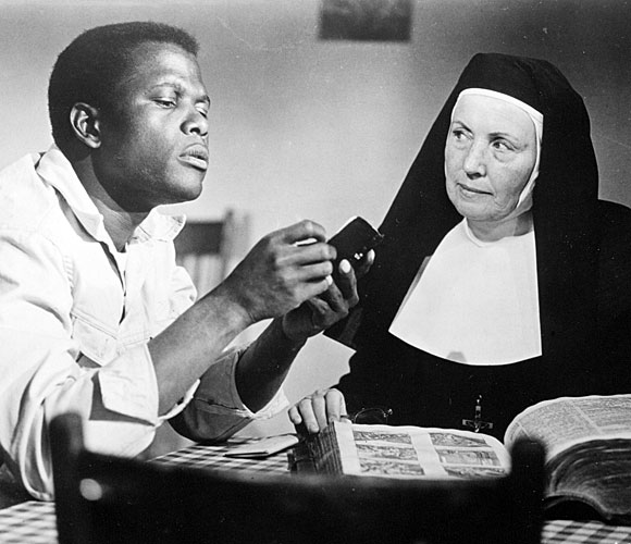 "Sidney Poitier and Lilia Skala in ""Lilies of the Field"""