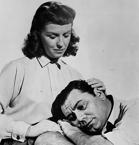 "Betsy Blair and Ernest Borgnine in a scene from ""Marty"""