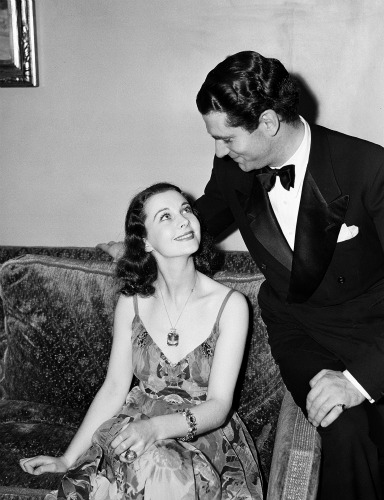 Vivien Leigh with Laurence Olivier at the 1940 banquet.