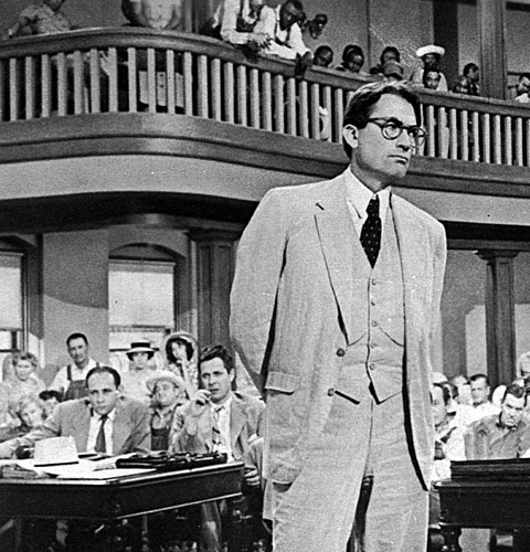 "Gregory Peck as Atticus Finch in ""To Kill a Mockingbird"""