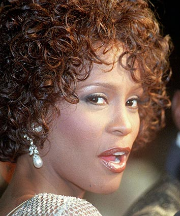 Whitney Houston at a premiere at Mann's Chinese Theater in Hollywood.