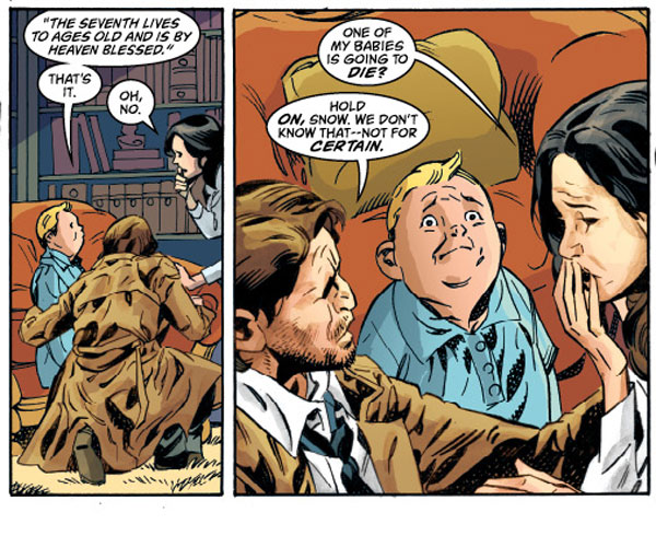 """Fables"" issue #109 shows Snow, Bigby and their children."