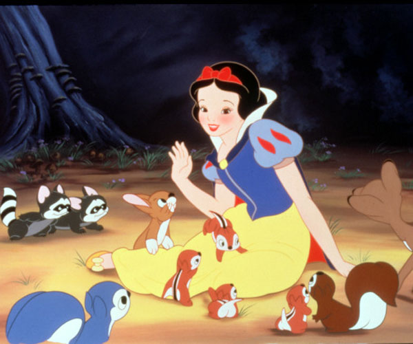 "A scene from Walt Disney's ""Snow White and the Seven Dwarfs."""