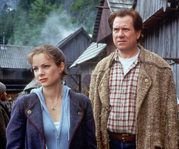 "Kimberly Williams-Paisley and John Larroquette in ""The 10th Kingdom."""