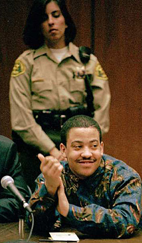 Damian Monroe Williams in court. (Dec. 7, 1993)