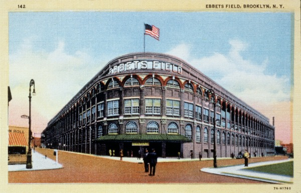 Vintage postcard of Ebbets Field