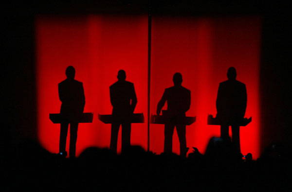 Kraftwerk performs May 1, 2004 in Indio.