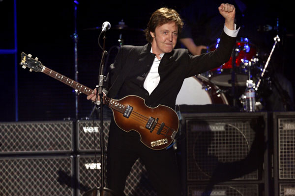 Paul McCartney goes into OT on April 17, 2009.