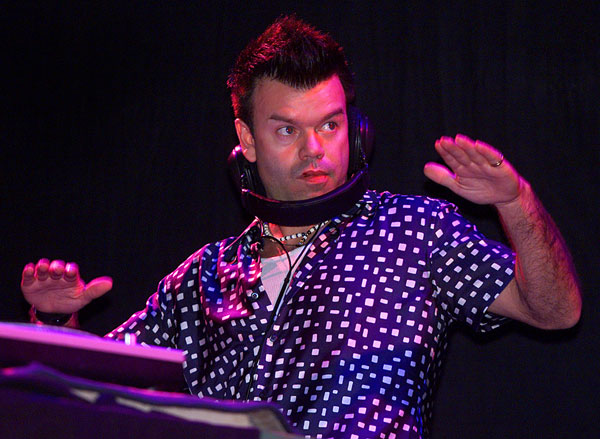 Paul Oakenfold on the ones and twos at the 2001 edition of Coachella.