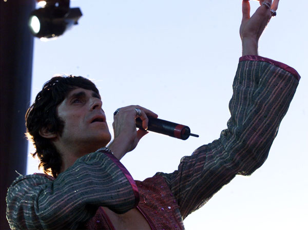 Perry Farrell performs at the first Coachella.
