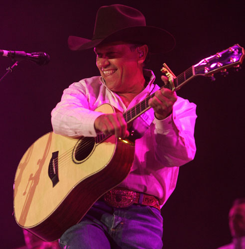 George Strait plays the first Stagecoach.