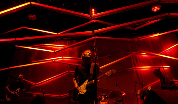 Thom Yorke plays in April 2010.