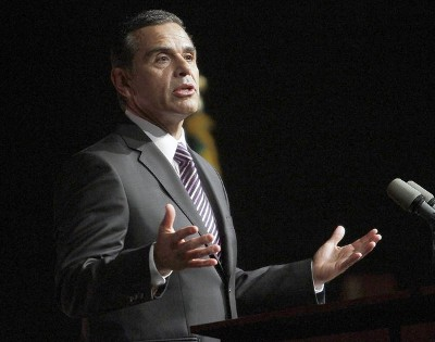 Mayor Antonio Villaraigosa delivering the state of the city address earlier in the year