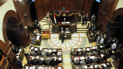 Egypt's Islamist-dominated constitutional assembly is gathered during its 16-hour session that culminated early Friday with the adoption of a draft constitution for the country.