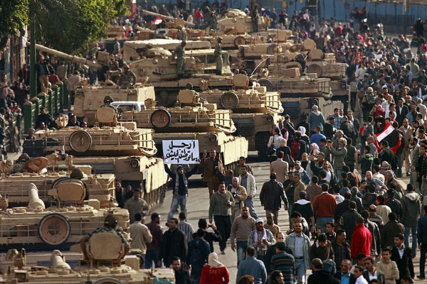 The Egyptian Army has taken command of Cairo.