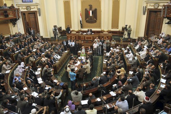 Egypt's parliament reconvenes Tuesday in defiance of a court order.