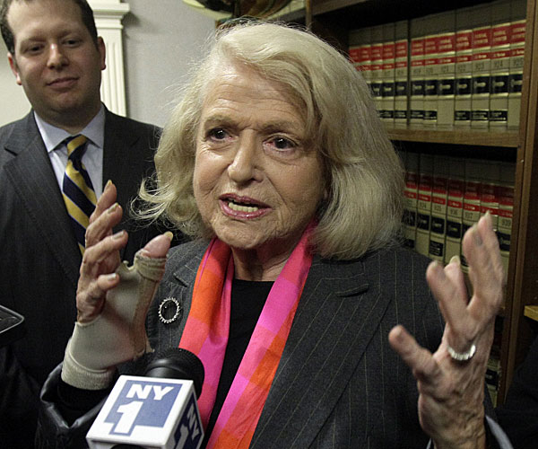 Edith Windsor sued the government for telling her to pay $363,000 in federal estate taxes after the death of her legal spouse, Thea Spyer.