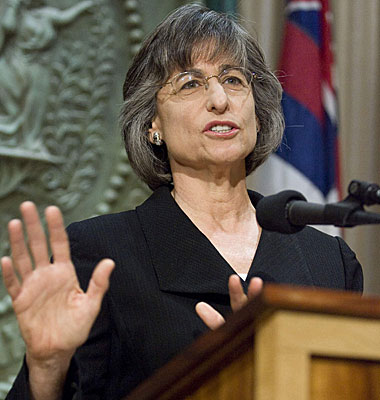 Gov. Linda Lingle vetoed legislation that would have allowed civil unions.