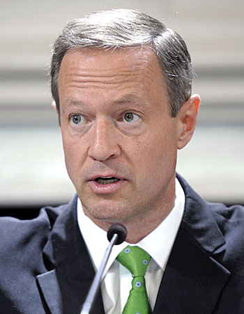 Maryland Gov. Martin O'Malley in May 2012