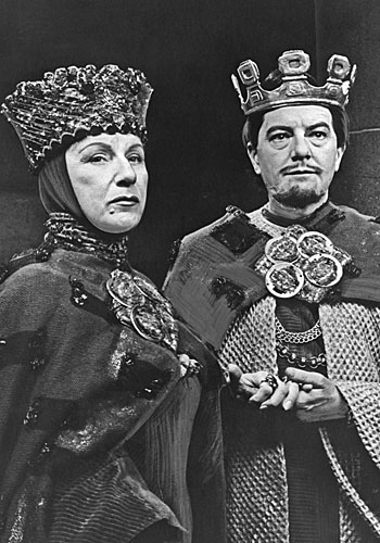"Maurice Evans and Dame Judith Anderson, lead actor and actress in a single performance for their roles in ""Macbeth."""