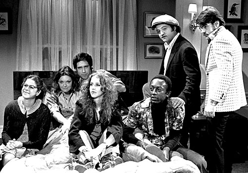"The cast from the first season of ""Saturday Night Live."""