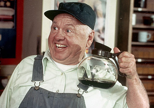 "Mickey Rooney earned an Emmy for his performance in ""Bill."""