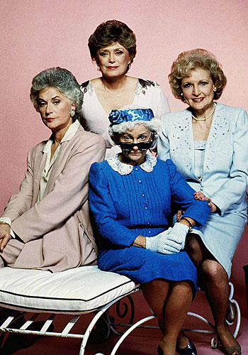 "The cast of the NBC comedy ""Golden Girls."""