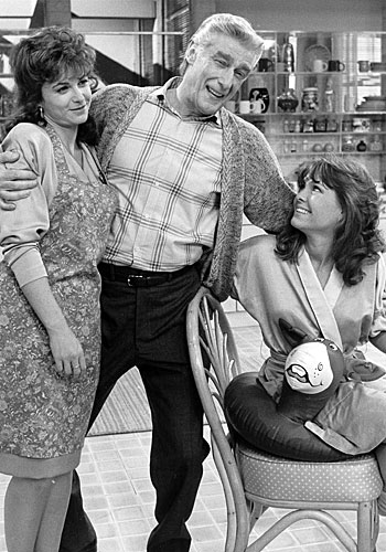 "Richard Mulligan with Dinah Manoff, left, and Kristy McNichol in ""Empty Nest."""