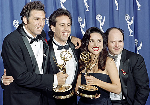"The cast of ""Seinfeld,"" which won the Emmy for comedy series."