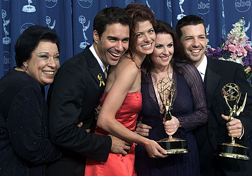 "The cast of ""Will and Grace,"" which won for comedy series."