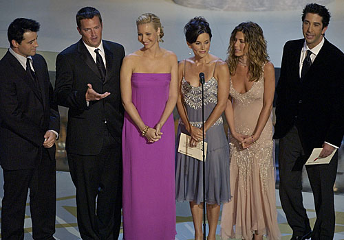 "The cast of ""Friends,"" which won for comedy series."