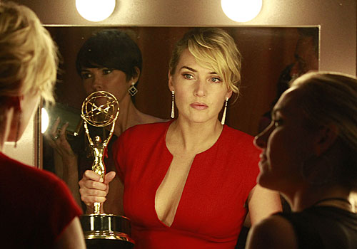"Kate Winslet won for actress in a miniseries or movie for ""Mildred Pierce."""