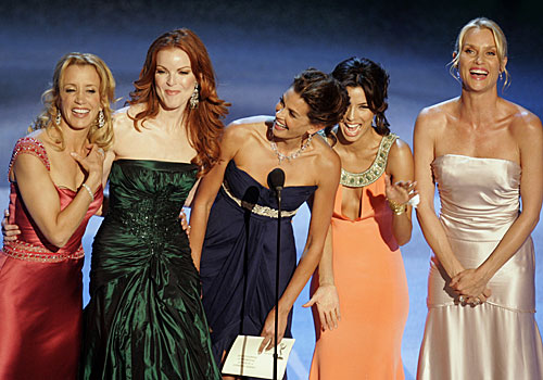 """Desperate Housewives' "" Felicity Huffman, Marcia Cross, Teri Hatcher, Eva Longoria and Nicollette Sheridan."
