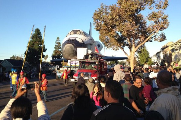 Endeavour along Martin Luther King Jr. Boulevard.