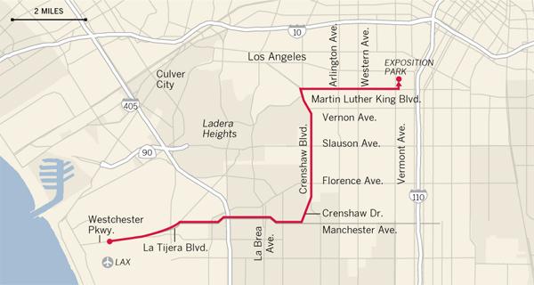 Endeavour\'s trek through L.A. - Timelines - Los Angeles Times