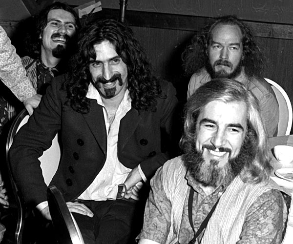 Frank Zappa, center, and the Mothers of Invention attend the Grammy Awards at the New York Hilton, one of four sites for the 1968 awards.