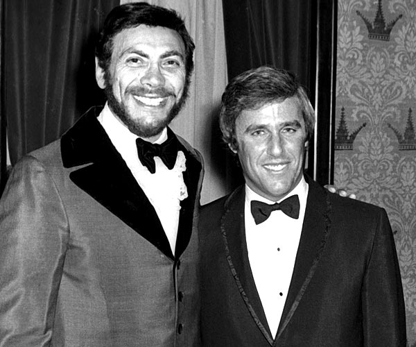 Ed Ames, left, and Burt Bacharach attend a party for the 11th Grammy Awards at the Americana Hotel in New York City in 1969.