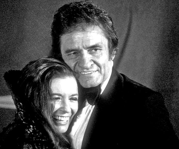 Married country singers Johnny Cash and June Carter Cash attend the 1970 Grammy Awards in Los Angeles.