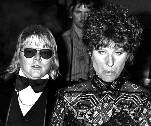 Paul Williams and Barbra Streisand attend the Grammy Awards at the Shrine Auditorium in 1978.