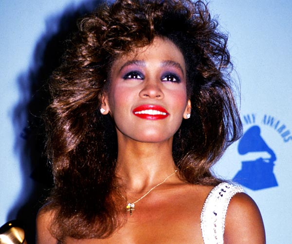 Whitney Houston, photographed at the 1986 Grammy Awards in Los Angeles.