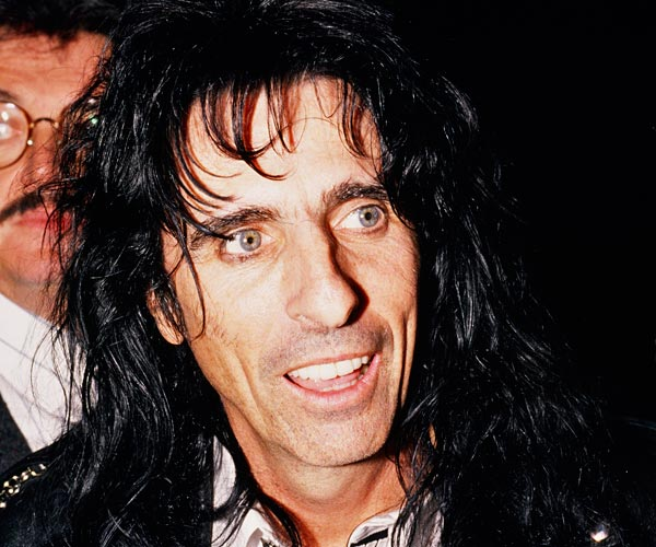 Musician Alice Cooper on the red carpet at the 1989 Grammy Awards in Los Angeles.