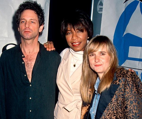 Singers Lindsey Buckingham, Natalie Cole and Melissa Etheridge attend the nominees luncheon for the 34th Grammy Awards in Universal City.