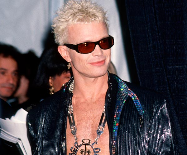Singer Billy Idol attends the 1993 Grammy Awards in Los Angeles.