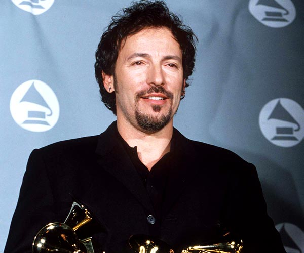 Bruce Springsteen with his Grammy Awards in 1995.
