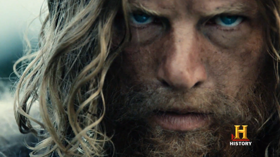 "A screen grab the ""Vikings"" promotional trailer."